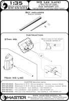 Master 1/35 M3 Lee (Late Production) - 75mm M3 L/40 (Long) & 37mm M6 Gun Barrels # GM35-033